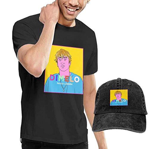 ytuytiutfi de los Hombres Black Short Sleeve Shirts, Funny Paulo Dimelo LON-dra Casual Camiseta - Dad Baseball Ninguno