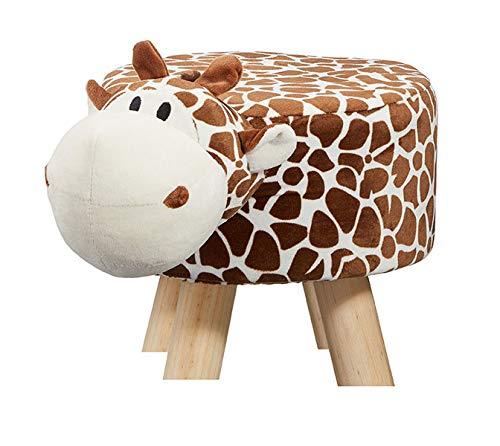 Cepewa Hocker Giraffe Sitzhocker Polsterhocker Sitzwürfel Stuhl Sitzbank