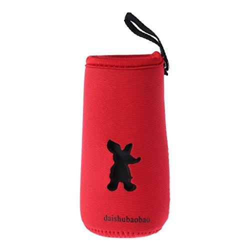 Lyguy Tasche, Babyflasche, Thermo-Isolierung, Verbrühungsschutz, hält warm - rot