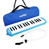 East top 32-Key Melodica, Professional Mouth Melodica Keyboard Organ Melodica Instrument for Adults, Students and Kids, As a gift, Set-Blue