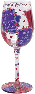 Lolita Wine Glass Roses Are Red Retired - Wine Martini New Love GLS11-5535F