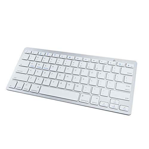 WZPG Teclado Inalámbrico Portátil, Transmisión De 10 M/Mini Keyboard Universal/Bluetooth 3.0 Conexión Inalámbrica, Compatible con Android/Windows,Blanco