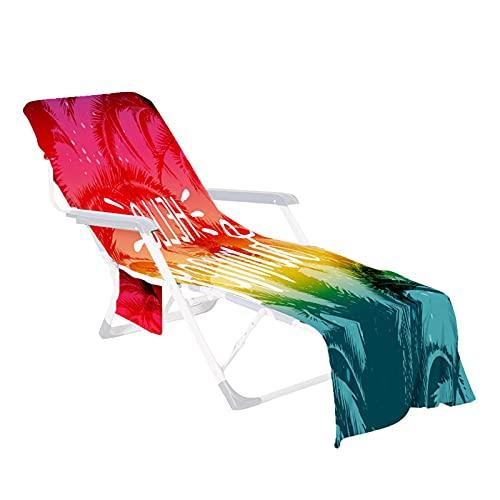 Stoelhoes voor tuinbed, strandstoelkussen, zonneligstoel, badstof, hoes, hoes, hoes, ligstoel, zonnebed, strandlaken voor zwembaden, stranden, tuinhotels, 210 x 73 cm