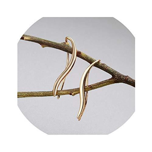 dream-higher Silver Geometry Bending S shaped Wave Earrings Personality Wild Simple Brincos Oorbellen Wholesale-Style11-