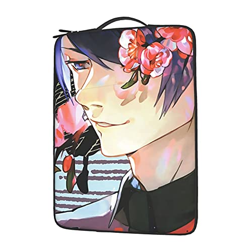 Tokyo Ghoul Tsukiyama Floral Laptop Sleeve Notebook Case Holder Soft Protective Handle Carrying for Business Office School Compatible with Dell Lenovo Chromebook Macbook Air 14 inch