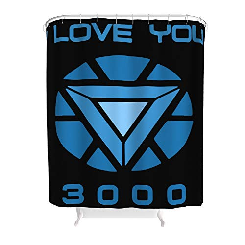 NeiBangM I Love You 3000 Arc Reactor douchegordijn waterafstotend topkwaliteit badkuipgordijn