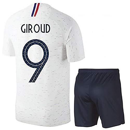 FDSEW Männer-Fußball-Hemd und Shorts WM 2018 Griezmann Mbappe Kinder Erwachsene Trikots 9-28