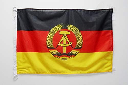 AZ FLAG Flagge DEUTSCHE DEMOKRATISCHE Republik 90x60cm - DDR Fahne 60 x 90 cm Aussenverwendung - flaggen Top Qualität