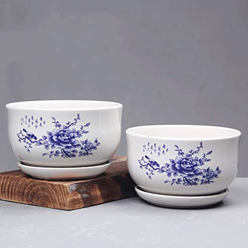 PLL pot Ceramic Home 2 Bloempot Set Combi-sapmachine Potcontainer Gentleman met gat Tuinpot