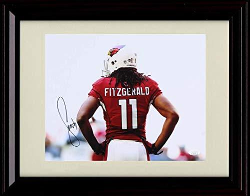 Framed Larry Fitzgerald Autograph Replica Print - Jersey Back