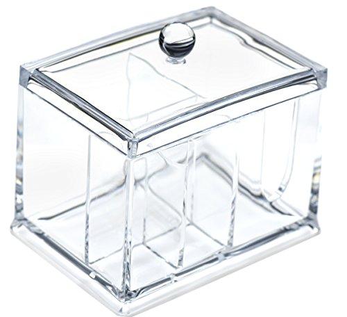 FiveSeasonStuff Acrilico Trasparente Cosmetico Trucco Organizzatore con 4 scomparti di stoccaggio