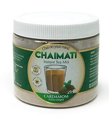 El orgullo de la India de café con leche en polvo instantánea cardamomo té chai premezcla, 8,82 onzas (250 gramos) jarra (hace 20 tazas)