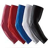 LP SUPPORT SL51 Manchettes de Performance, Manchettes de Bras, coudières, Bandage de l'avant-Bras, Taille:M, Couleur:1 x Rouge
