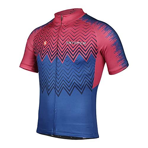 SKYSPER Maillot Ciclismo Hombre Camiseta Ropa de ciclismo Manga Corta Ropa Ciclista para Bicicleta d