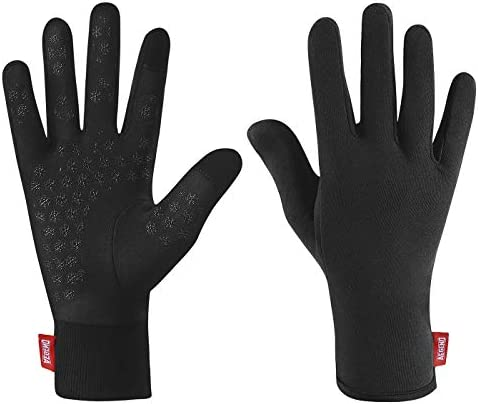 Aegend Upgraded Lightweight Running Gloves Warm Touchscreen Compression Mittens Liners Gloves product image