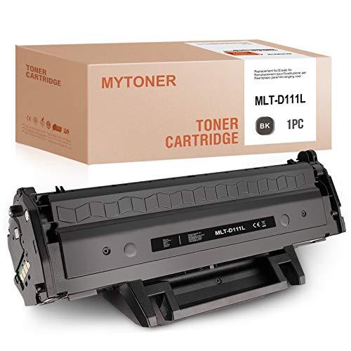 MYTONER - Tóner para Samsung MLT-D111L MLT-D111S D111L (1800 páginas), color negro
