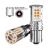 S25 bau15s PY21W LED CANBUS arancione 12V indicatore di direzione lampadine per auto (Ambra 150 °)
