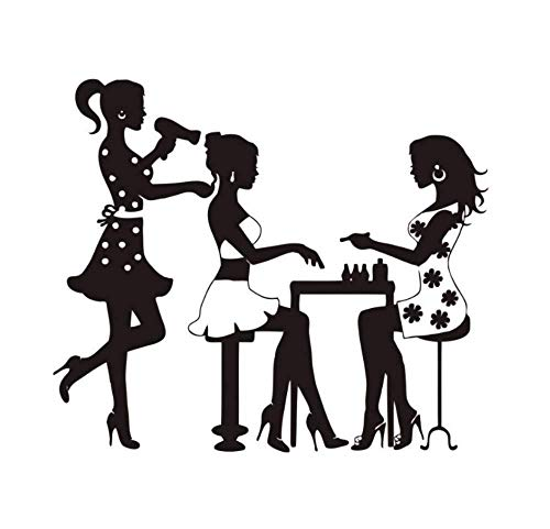 Yoyoyu Wandtattoo Salon Poster Beauty Salon Friseur Maniküre Nagel FA Aufkleber Dekor Salon Aufkleber Fenster Aufkleber Ww-50 42 * 48Cm
