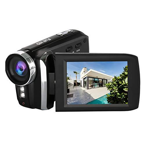 HG5250 Videocámara Digital FHD 1080P 12MP DV 270 Grados con Pantalla giratoria Cámara de Video para niños/Principiantes/Ancianos