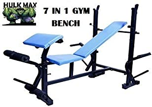 Rjkart Pipe Size 2x2 Inch Workout with 7 in 1 Gym Bench
