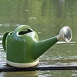 Syina Regadera de 4 L con mango largo, caño con cabezal de ducha, gran capacidad, para plantas verdes, olla de riego multiusos para jardín, moderna maceta de jardín