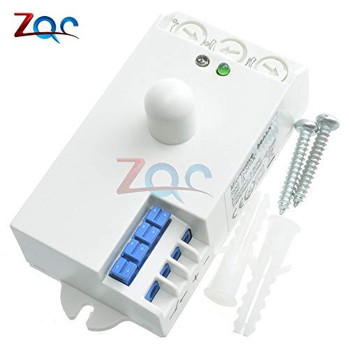 DC 12V-24V 5.8GHz Microwave Radar Sensor Body Motion Sensor HF Detector Light Switch Indoor 85x38x40mm Best Quality