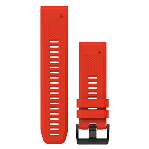 Garmin Silikon-Armband Quickfit-Wechselarmband, Feuerrot, 26 mm