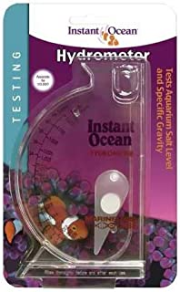 Instant Ocean Aquarium Water Test Hydrometer, Marine Salt & Gravity Lavel Testing Scale