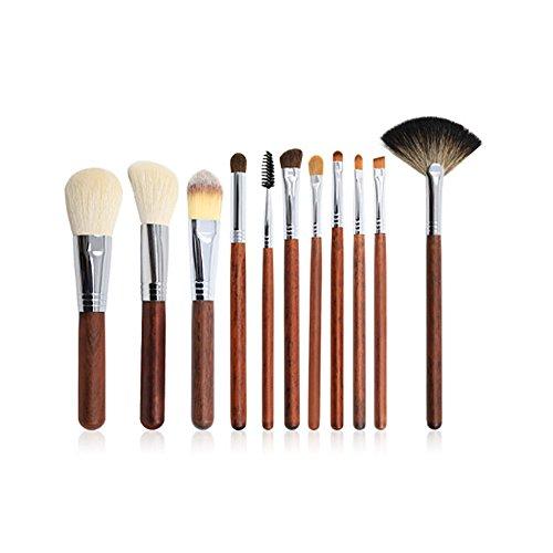 Kanqingqing Pinceaux De Maquillage 11 Pcs Cosmétique Pinceau De Maquillage Ensemble Outils Maquillage Trousse De Toilette Nylon Pinceau Cosmétique Pinceau Yeux pour Le Maquillage Cosmétique