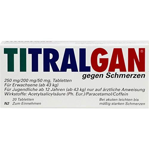 TITRALGAN gegen Schmerzen Tabletten, 20 St. Tabletten
