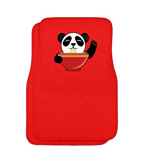 Schattige pandabeer is Chinese pasta met stokjes. Is de kleine niet om te knuffelen? - Automatten