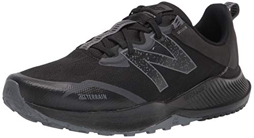 New Balance Men's DynaSoft Nitrel V4 Trail Running Shoe, Black/Black, 12 W US