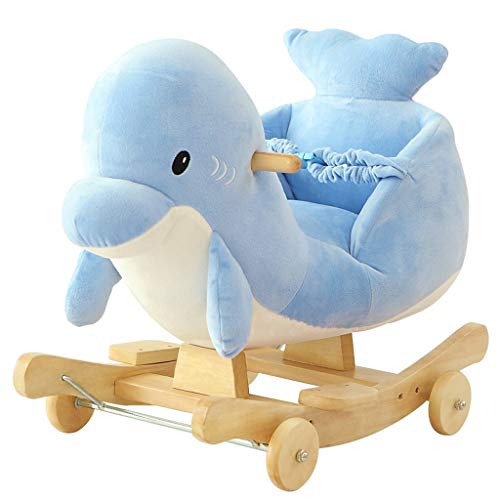 Why Should You Buy Rocking horse LITING Children's Toys Gifts Baby Trojan Dolphin Trojan Music Gift ...