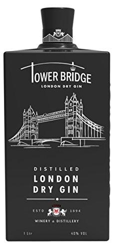 Ginebra Premium Tower Bridge London Dry GIN black 1000ml