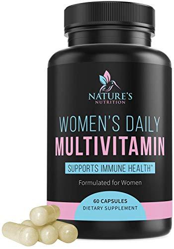 Multivitamin for Women, Multivitamin and Multimineral Supplement with Vitamins D, C, B6, B12, Biotin, Calcium, Folic Acid, and More - 60 Capsules