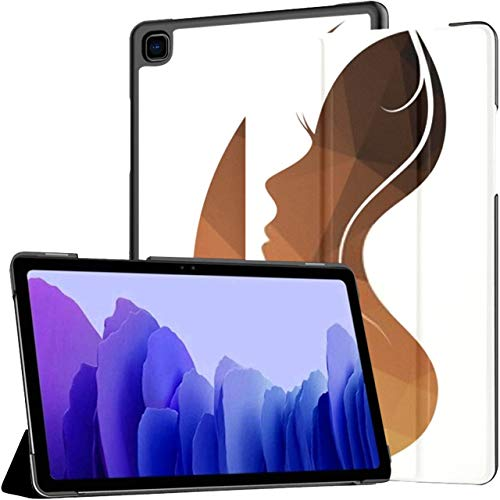 Case For Samsung Galaxy Tab A7 10.4 Inch Tablet 2020(sm-t500/t505/t507), Woman Vector Logo Girl Silhouette Multiple Angle Stand Cover With Auto Wake/sleep