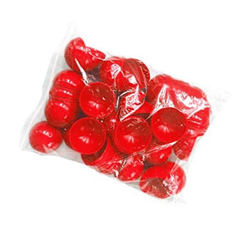 BESPORTBLE Bier Ping Pong Bälle Kunststoff Tischtennisball Lotterie Farbe Bälle 40 mm Durchmesser 50 Stück (rot)