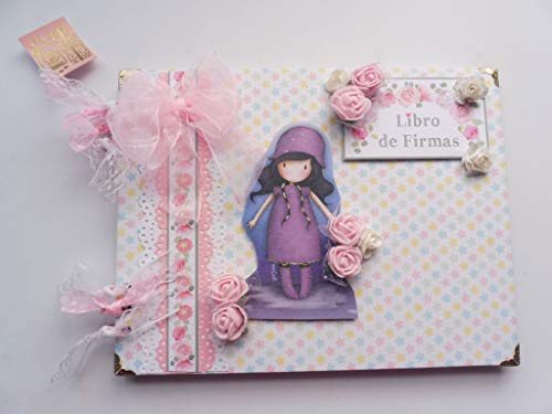 Libro de firmas, primera comunión niña, álbum de fotos, PERSONALIZADO, scrapbook, scrap, scrapbooking,gorjus 002