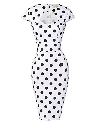 GRACE KARIN - Vestido de lápiz para mujer, estilo vintage, Rockabilly Pin up años 50 Floral-1(cl7597) XXXXL
