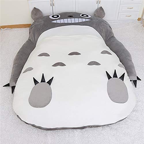 AZUOYI Divano Letto Letto Totoro Materasso Warm Cartoon Tatami Totoro Sofa Borsa a Pelo Chinchilla Unico Divano Letto Dormitory,200x150cm