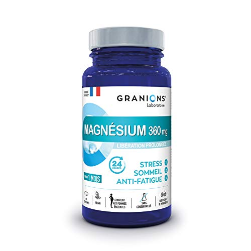 Granions Magnesio 360 Mg + Vitamina B6 - Bisglicinato Ad Alta Biodisponibilità - Rilascio Prolungato 24H - 3 Azioni - 66 g