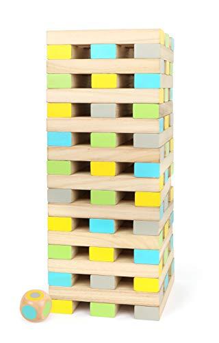 Small Foot- Wackelturm XXL Active aus FSC 100%-zertifiziertem Holz für Erwachsene und Kinder AB 3 Jahren, Outdoor-Spiel Juguete, Multicolor (12027)