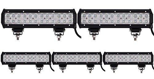 ALPHA DIMA 5X 72W Phare de Travail LED Lampe Work Light IP67 Phare Véhicule Tout-Terrain 12V 24V Lumière LED pour Voiture SUV ATV Tracteur Camion 4x4