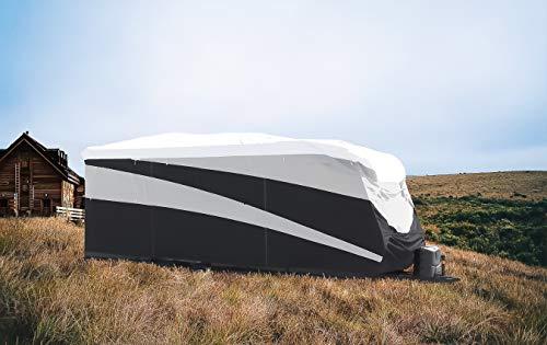 Camco 56160 ULTRAGuard Supreme - Cubierta para RV extremadamente duradera, se adapta a remolques de 24 pies a 28 pies, resistente a la intemperie con protección UV y parte superior Dupont Tyvek