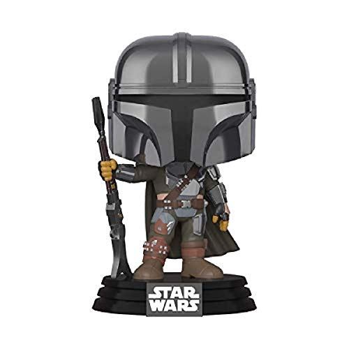 Funko Pop! Star Wars: The Mandalorian - Mandalorian (cromo), exclusivo de Amazon, multicolor