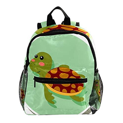 Mochila para niñas y niños, bolsa de escuela, para libros, dibujos animados, pulpo amarillo, para mujeres, casual, mochila de princesa, escuela, mochila de 31 x 14,5 x 37 cm, Cartoon Turtle2, Medium