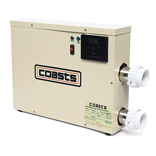 OUKANING Pompe à chaleur 5,5 kW Chauffage de piscine Chauffage de piscine Chauffage de piscine Chauffage de piscine Thermostat échangeur de chaleur intelligent