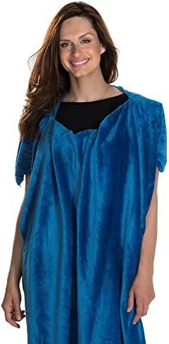 Blankets for Travel Flannel Faux Poncho Ranking TOP16 Max 71% OFF Blu Blanket Fur
