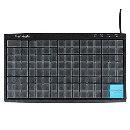 PrehKeyTec Programmeerbaar toetsenbord MCI 128 - Kleur zwart - Numerieke toetsenmatrix zonder verdere opties - USB - Eenvoudige toetsen met transparante kappen om zelf te beschrijven