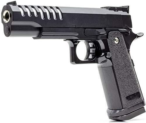Germanseller Pistole Softair Vollmetall Erbsenpistole V17 Replika Colt Style 1911 + 1000 BB < 0,5 Joule ab 14 Jahre